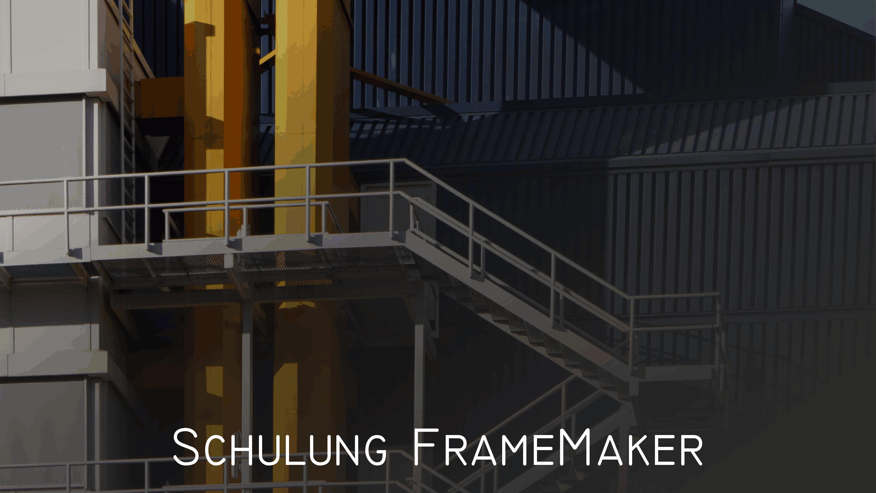 Leistungen FrameMaker-Schulungen
